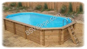 Piscine Fuoriterra Legno BLUE FOREST Waterline