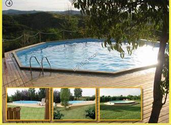 Piscine f terra in legno artig maddalena - Misure piscine fuori terra ...