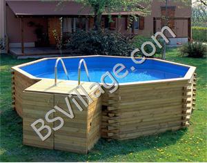 Piscine f terra in legno artig maddalena for Offerte piscine fuori terra